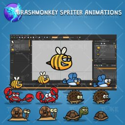 Cartoon Enemy Pack 02 - Brashmonkey Spriter Animation