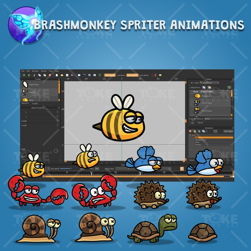 Cartoon Enemy Pack 02 - Brashmonkey Spriter Animation
