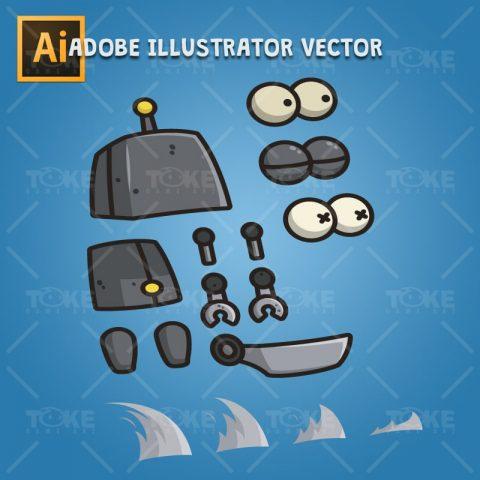 Dumb Robot - Adobe Illustrator Vector Art Based
