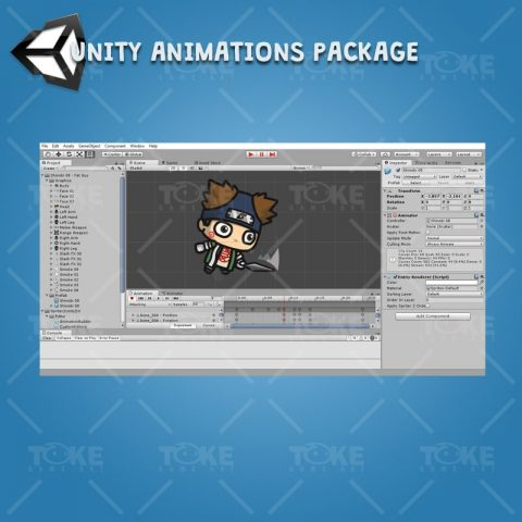 Fat Shinobi Guy - Unity Animation Ready