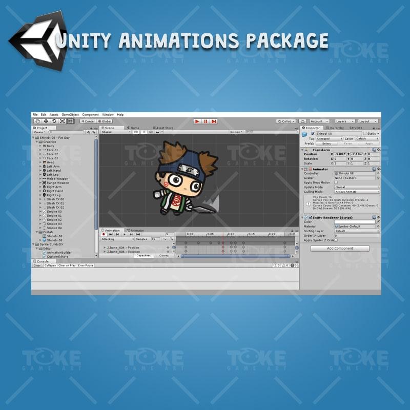 Fat Shinobi Guy - Unity Animation Ready