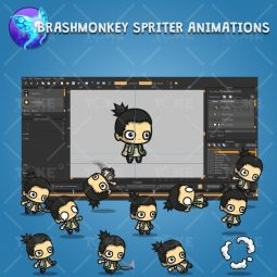 Pigtail Shinobi Guy - Brashmonkey Spriter Animation