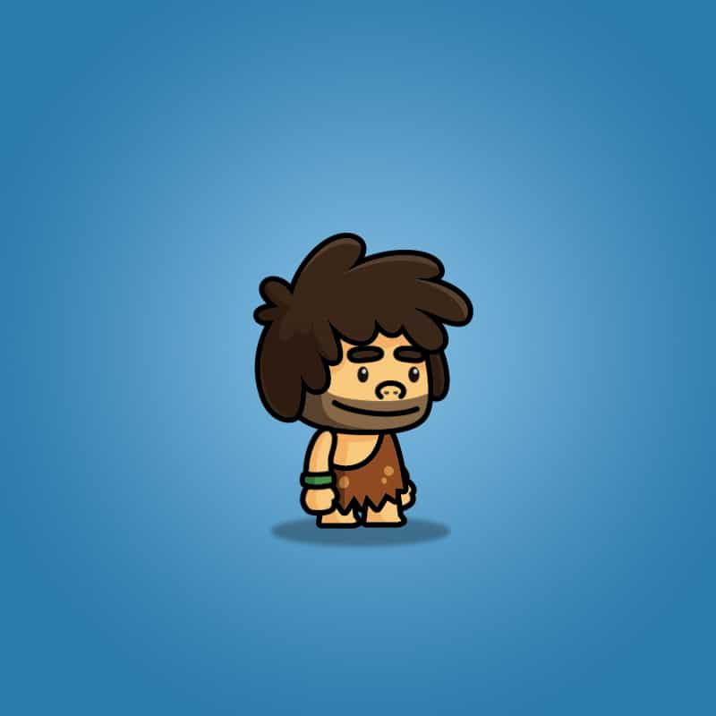 tiny caveman