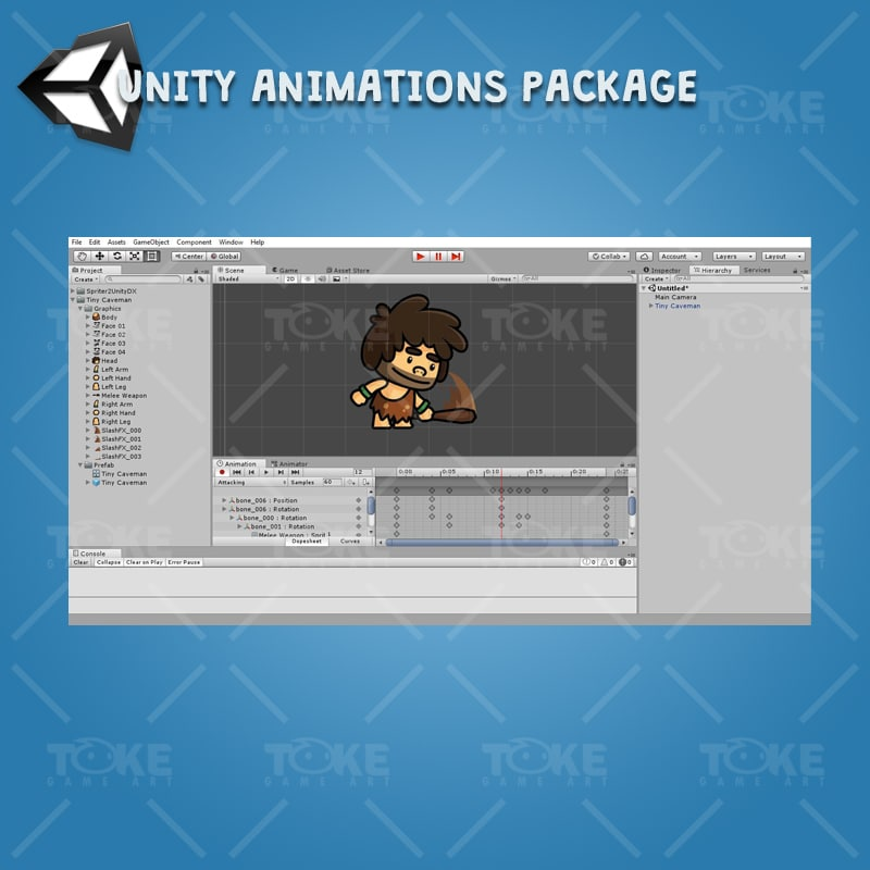 Tiny Caveman - Unity Animation Ready
