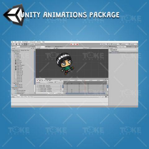 Bangs Hair Shinobi - Unity Character Animation Ready