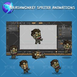 Cartoon Hairy Mummy - Brashmonkey Spriter Character Animation