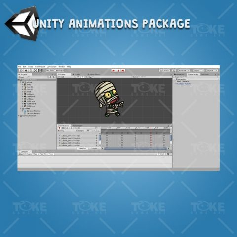 Cartoon Mummy - Unity Character Animation Ready