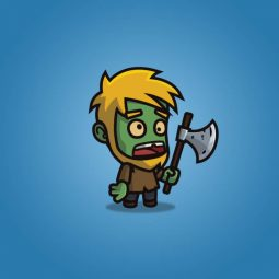 Cartoon Woodcutter Zombie