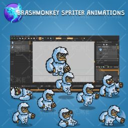 Cartoon Yeti - Brashmonkey Spriter Character Animation