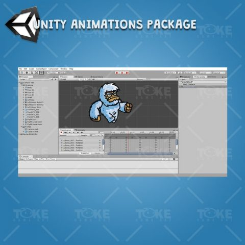 Cartoon Yeti - Unity Character Animation Ready