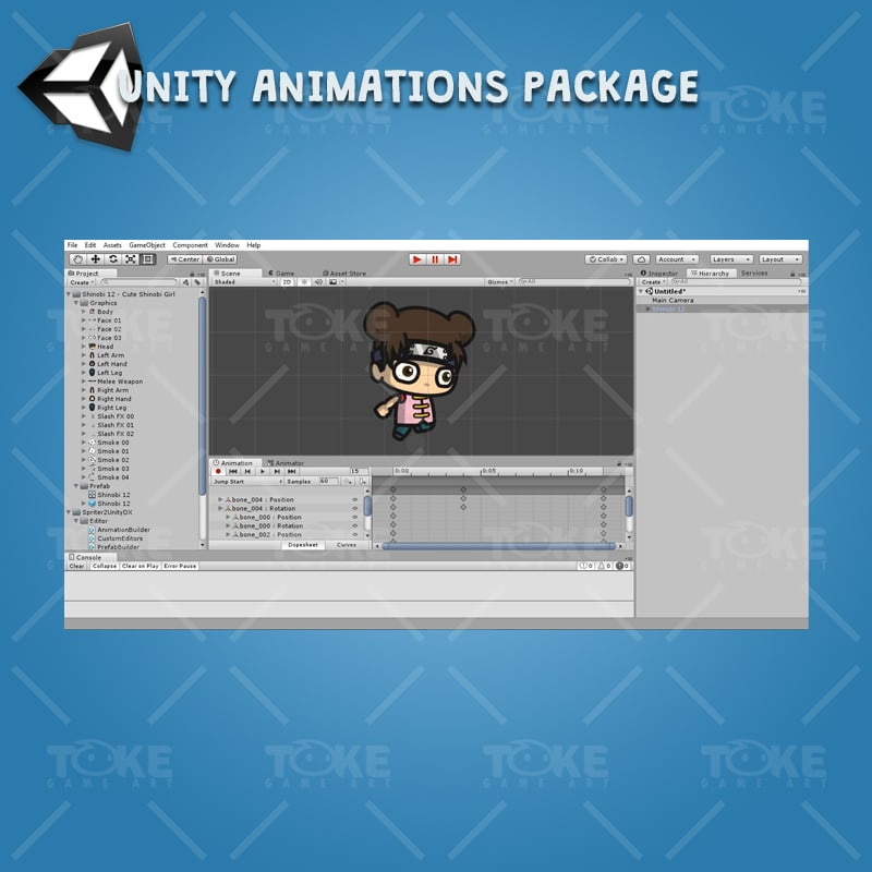 Cute Shinobi Girl - Unity Character Animation Ready