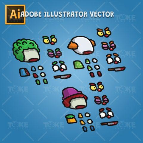 Tiny Evil Clown - Adobe Illustrator Vector Art Based