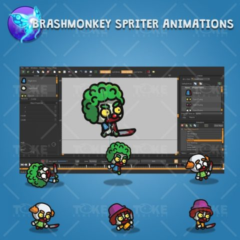 Tiny Evil Clown - Brashmonkey Spriter Character Animation