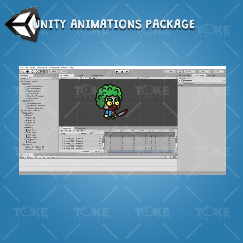 Tiny Evil Clown - Unity Animation Ready