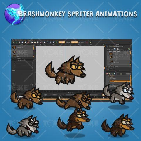 Tiny Wolves - Brashmonkey Spriter Character Animation