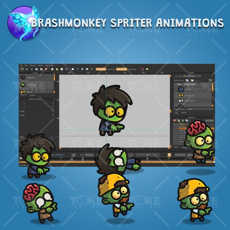 Tiny Zombies - Brashmonkey Spriter Animation