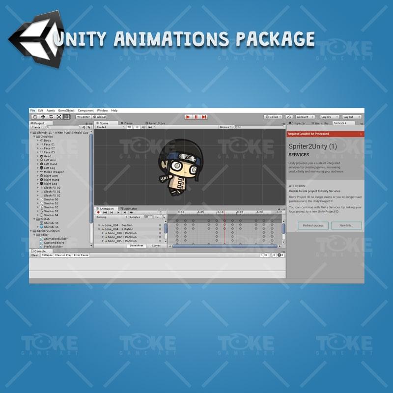White Pupil Shinobi Guy - Unity Character Animation Ready