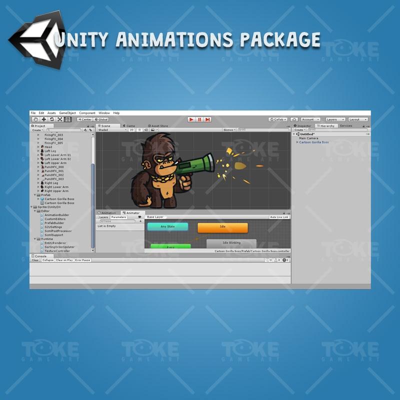 Cartoon Gorilla Boss - Unity Character Animation Ready