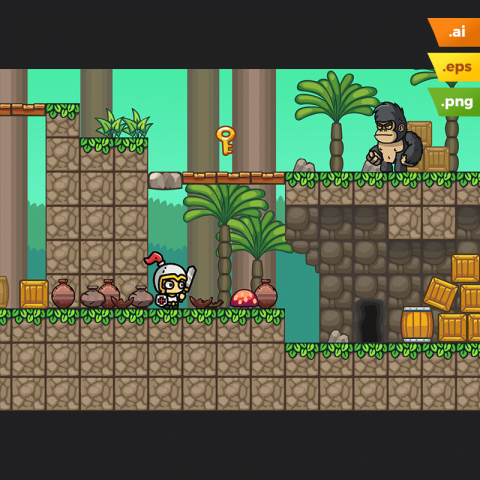 Forest Platformer Tileset - 2D Adventure Game