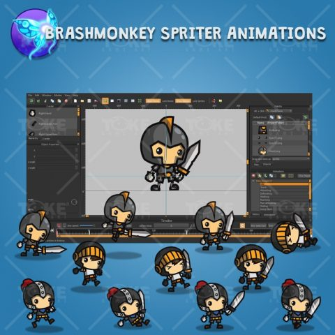 Mini Knight Character Pack - Brashmonkey Spriter Character Animation