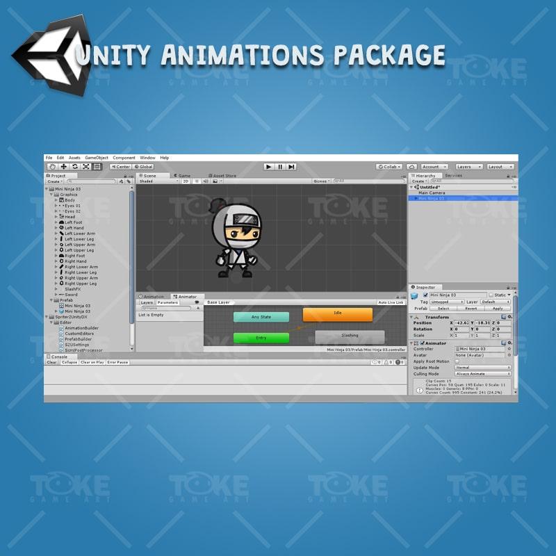 Mini Ninja - Unity Character Animation Ready
