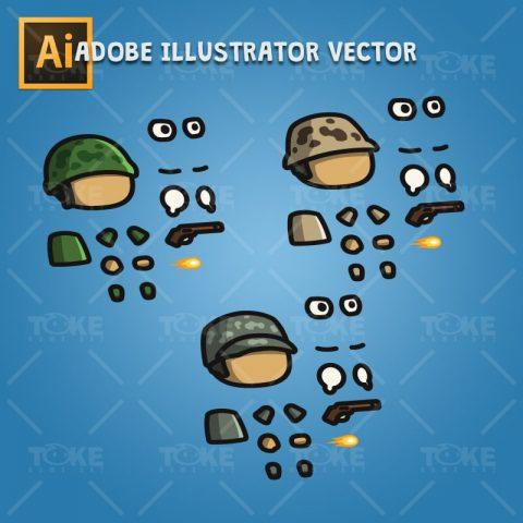Tiny Army - Adobe Illustrator Vector Art Based