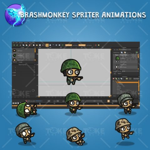 Tiny Army - Brashmonkey Spriter Character Animation
