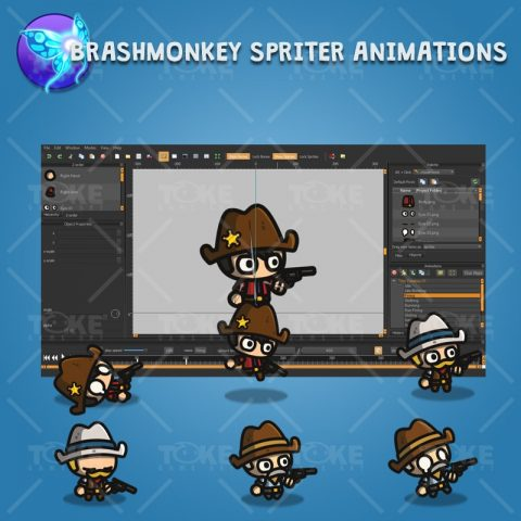 Tiny Cowboys - Brashmonkey Spriter Character Animation
