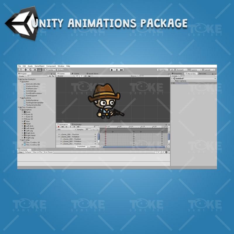 Tiny Cowboys - Unity Character Animation Ready