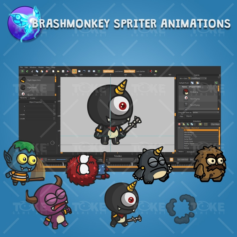 Cartoon Enemy Pack 03 - Brashmonkey Spriter Character Animation
