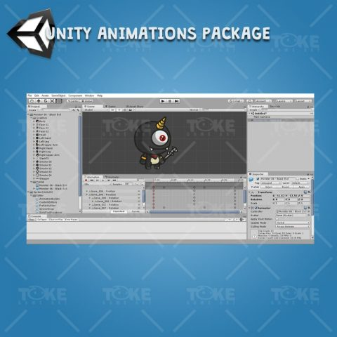 Cartoon Enemy Pack 03 - Unity Character Animation Ready with Spriter2UnityDX