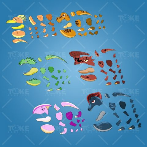 First Pack of Cool Dinosaurs - Dinosaur Character Body Part