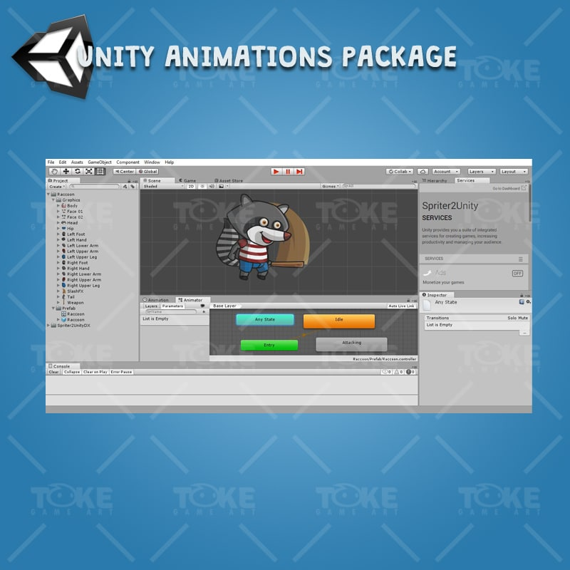 Raccoon - Unity Character Animation Ready