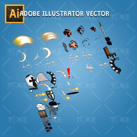 Chibi Teutonic Knight - Adobe Illustrator Vector Art Based