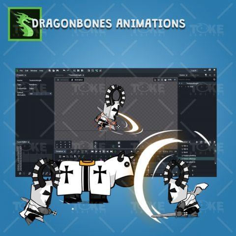 Chibi Teutonic Knight - DragoneBones Character Animations
