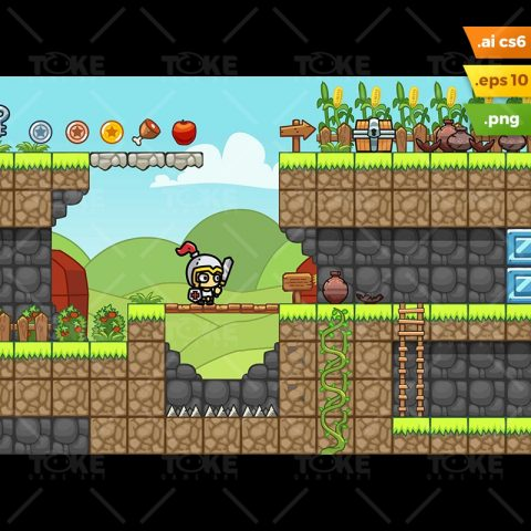 Farm Platformer Tileset - Indie Game Developer