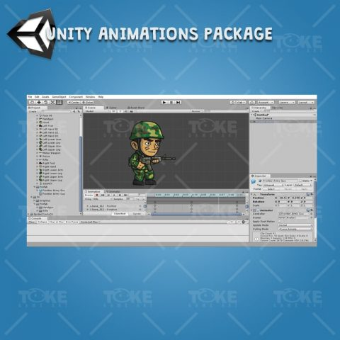 Frontier Army Guy - Unity Caharacter Animation Ready with Spriter2UnityDX Tool