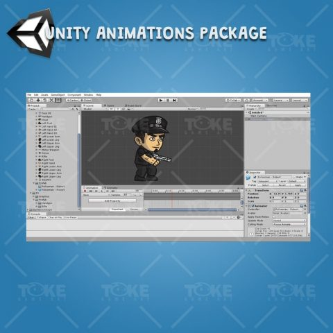 Policeman - Robert - Unity Animation Ready with Spriter2UnityDX Tool
