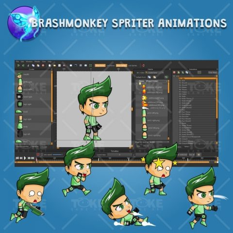 Rick - Boy 2D Game Character Sprite - Brashmonkey Spriter Character Animation