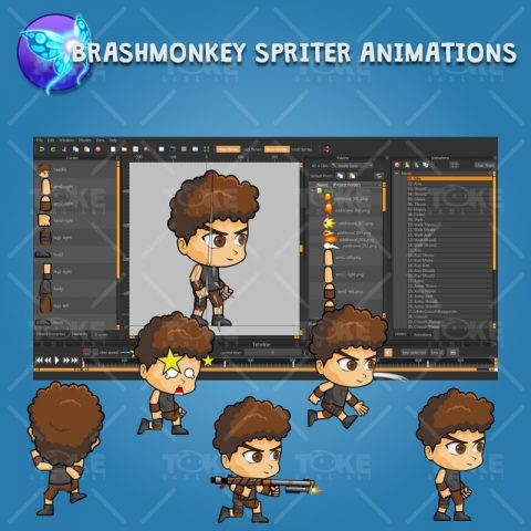 Hardy - Boy 2D Game Character Sprite - Brashmonkey Spriter Character Animation