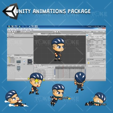 Aex - Boy 2D Game Character Sprite - Unity Character Animation Ready