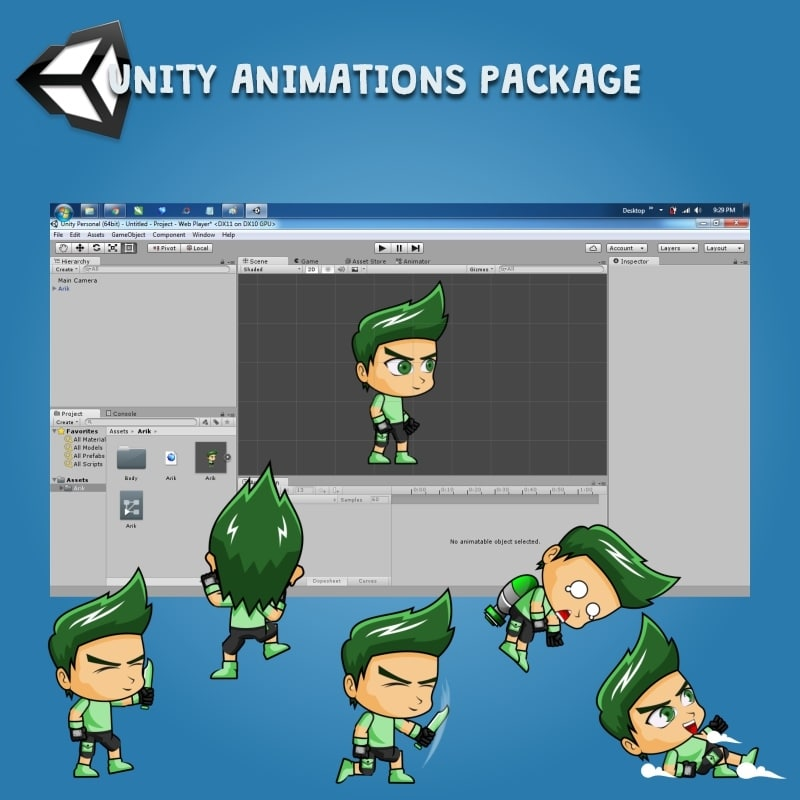 Rick - Boy 2D Game Character Sprite - Unity Character Animation Ready