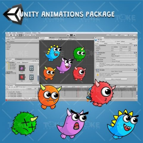 Enemy Monster Pack 2D Game Character Sprite - Unity Animation Ready
