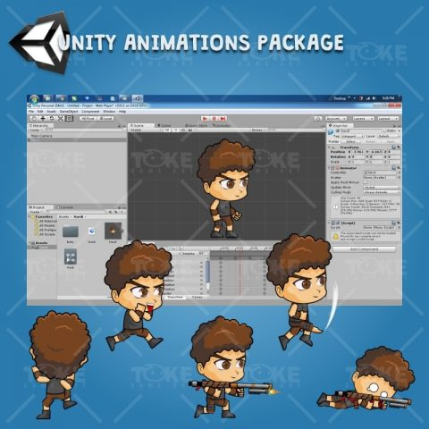 Hardy - Boy 2D Game Character Sprite - Unity Character Animation Ready