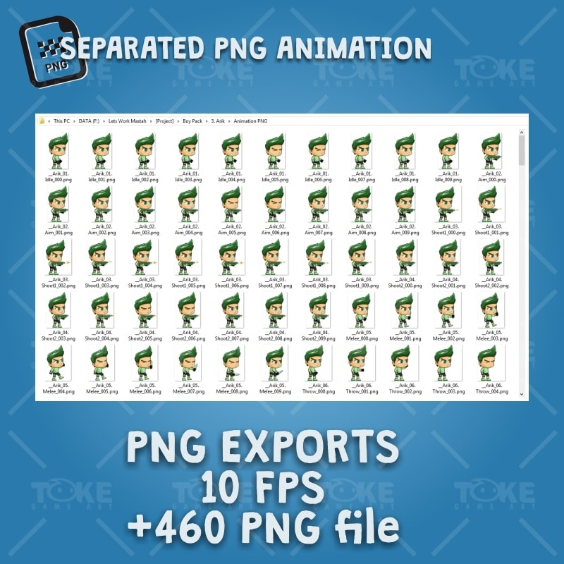 Rick - Boy 2D Game Character Sprite - PNG Sequences Animations