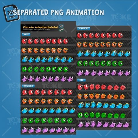 Enemy Monster Pack 2D Game Character Sprite - PNG Sequences Character Animation