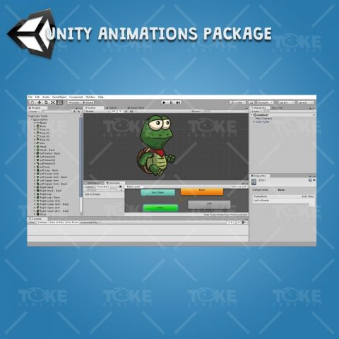 Cute Turtle - Unity Character Animation Ready with Spriter2UnityDX Tool