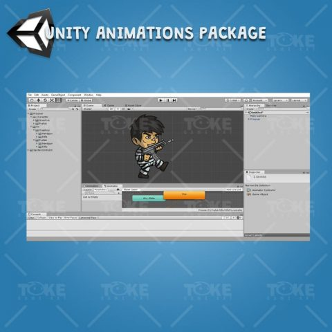 Prisoner - Unity Character Animation Ready with Spriter2UnityDX Tool
