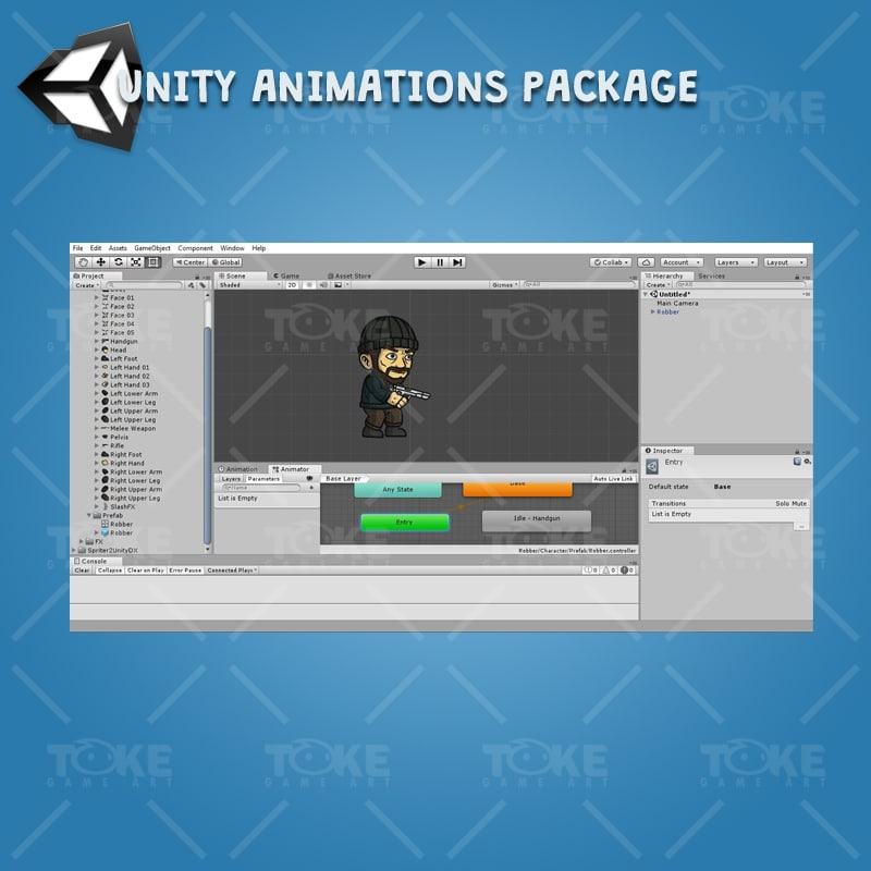 Robber - Unity Character Animation Reaady with Spriter2UnityDX Tool
