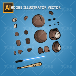 Teddy Bear TED - Adobe Illustrator Vector Art Based